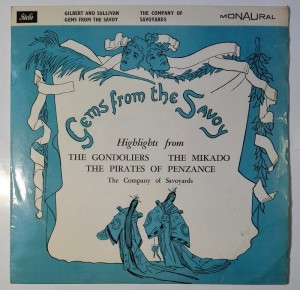 Gilbert & Sullivan - Gems from the Savoy LP winyl stan dosk